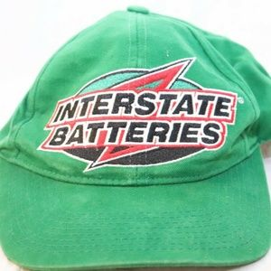 Interstate Batteries Hat Cap Green Nascar Snapback